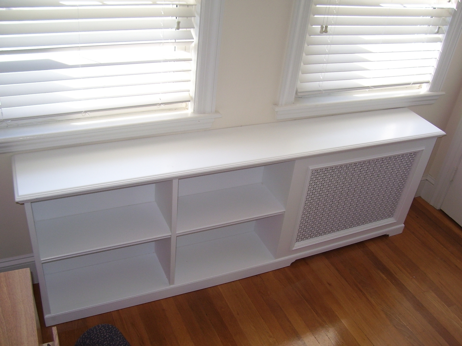 Radiator Cover Shelf Unit Regarding Current Custom Radiator Covers (View 8 of 15)