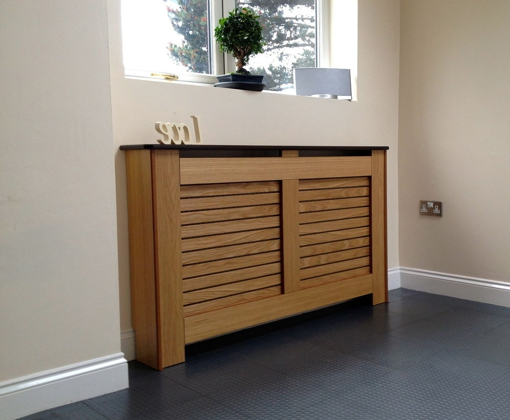 Radiator Cover Shelf Unit With Regard To Widely Used Oak Radiator Covers / Cabinets Made To Measure (View 15 of 15)
