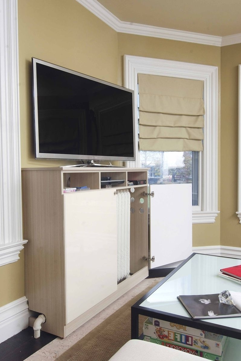 Radiator Cover Tv Stand Intended For Well Known Custom Made Radiator Cover / Media Cabinetcloset Solutions (View 3 of 15)