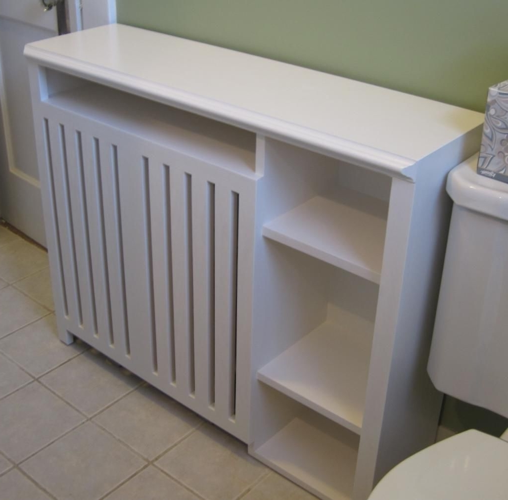 Radiator Enclosure Cabinet: Custom Built For A Small Bathroom Regarding Newest Radiator Covers With Bookshelves (View 4 of 15)