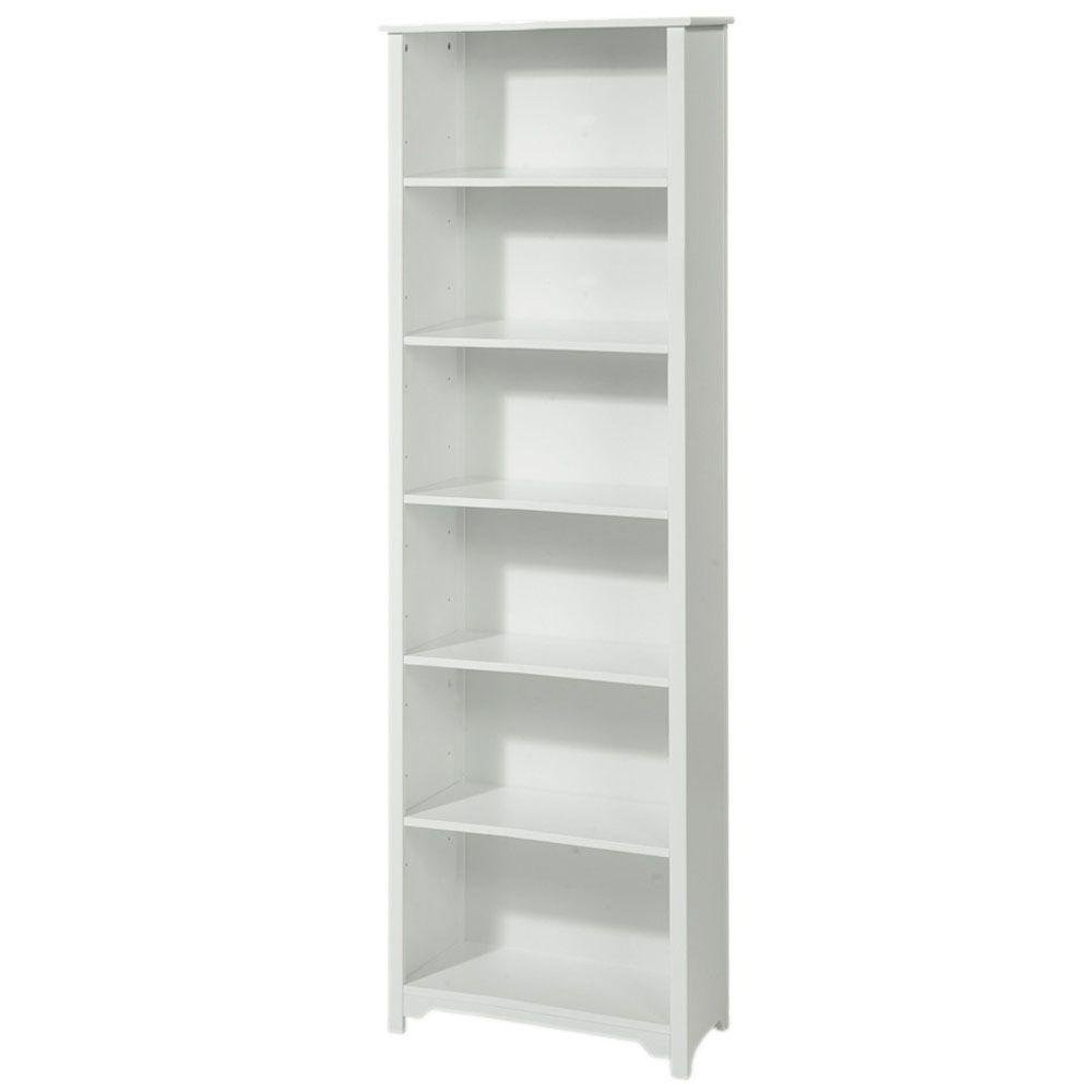 Recent 24 Inch Wide Bookcases With Regard To Amazon: Oxford 24 Inch White Six Shelf Open Bookcase, Six (View 11 of 15)