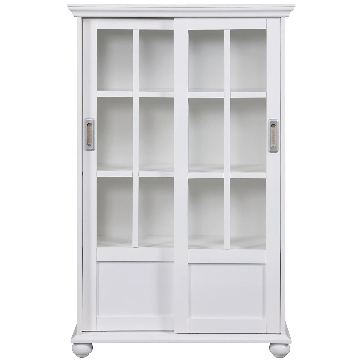 Recent Amazon: Altra 9448096 Bookcase With Sliding Glass Doors, White Within White Bookcases (View 11 of 15)