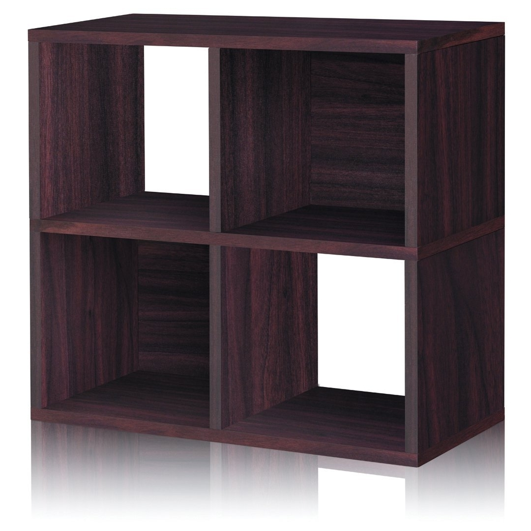Recent Amazon: Way Basics Eco 4 Cubby Bookcase, Stackable Organizer Regarding Cubby Bookcases (View 9 of 15)