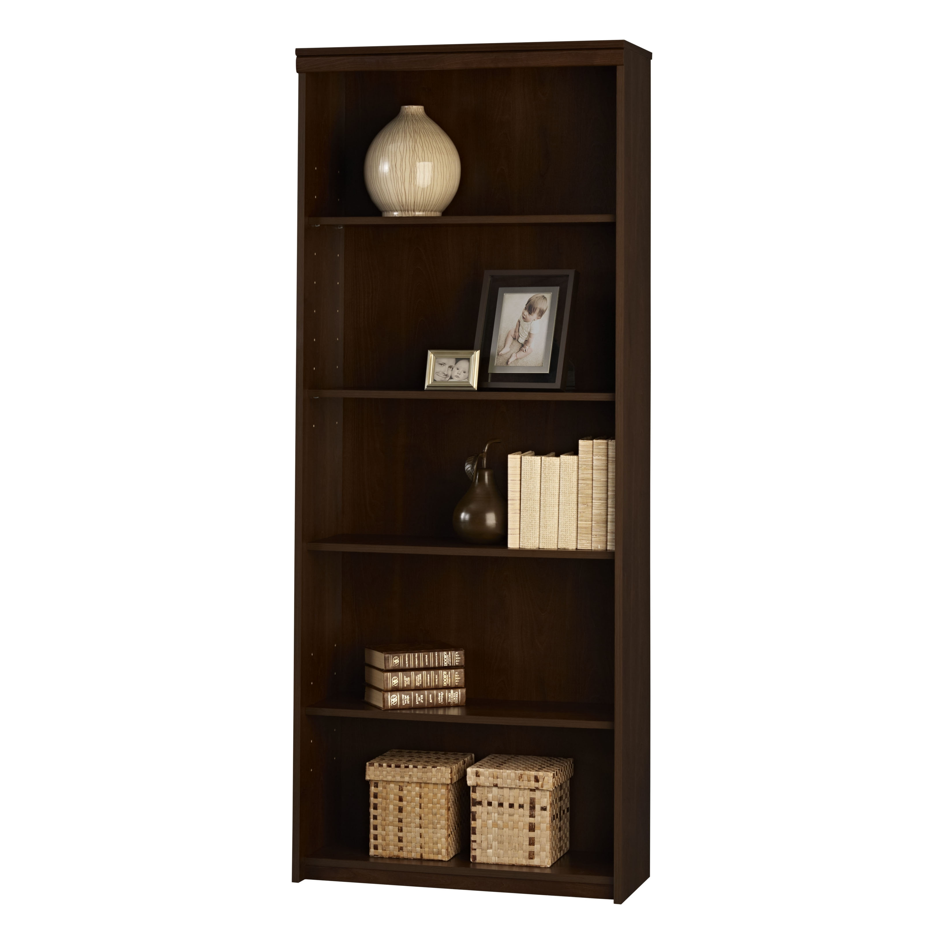 Recent Ameriwood 5 Shelf Bookcases Regarding Ameriwood Resort Cherry 5 Shelf Bookcase 9416207p (View 4 of 15)