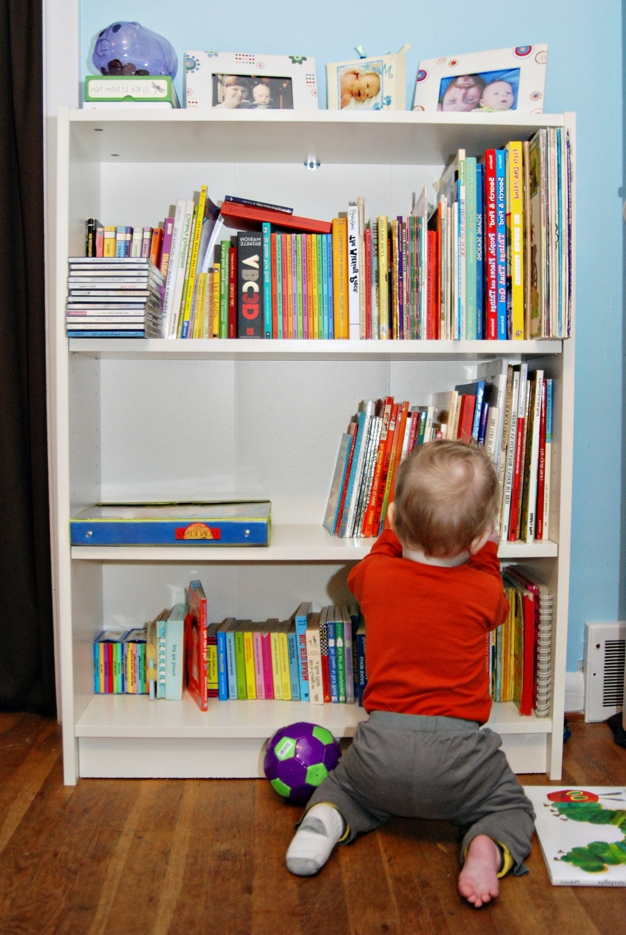 Recent Baby Bookcases Throughout Baby Nursery Baby Room Furniture Idea Using White Bookshelf (View 7 of 15)
