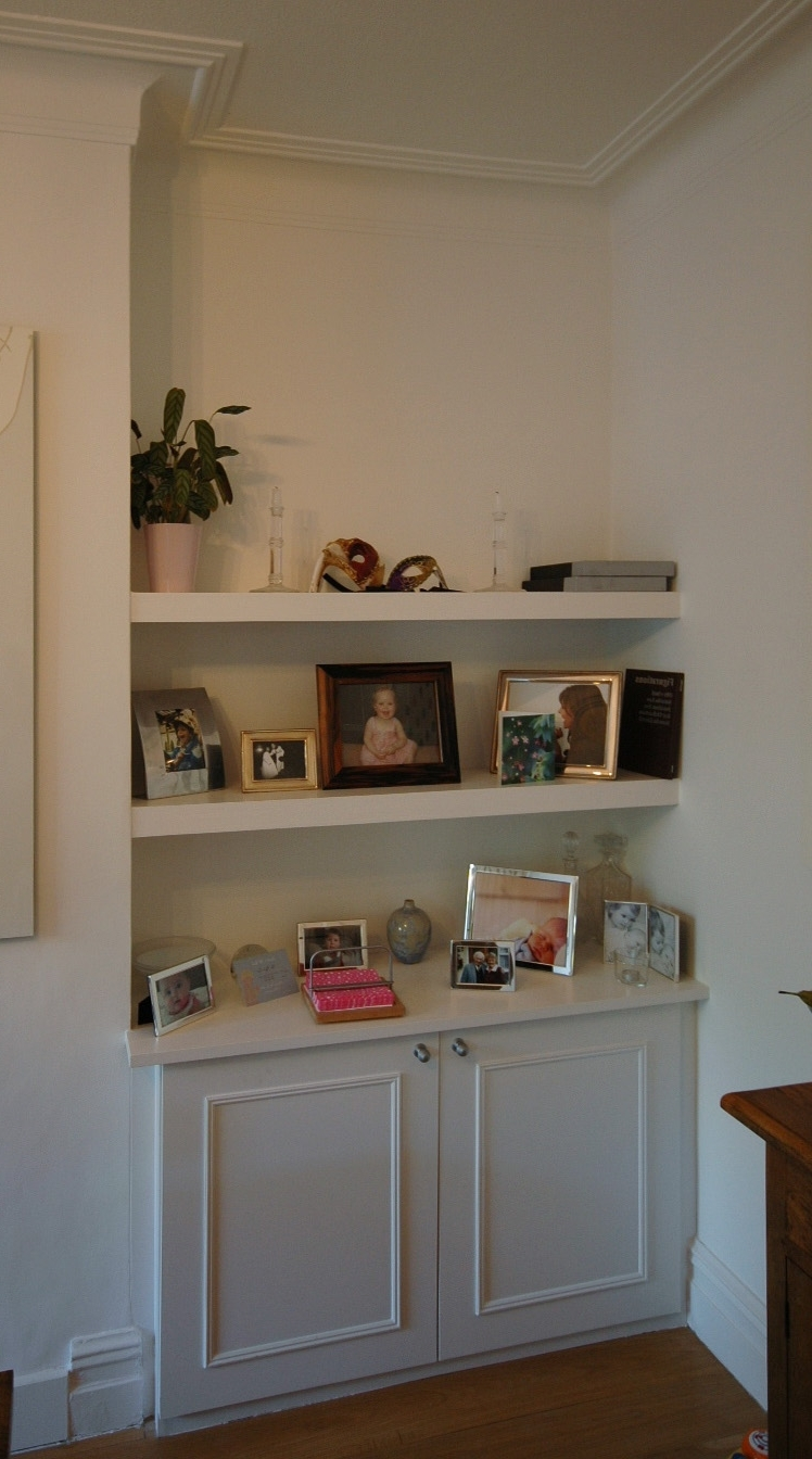 Recent Bookcases And Shelving – Bespoke Fitted Furniture For London Within Fitted Living Room Cabinets (View 9 of 15)