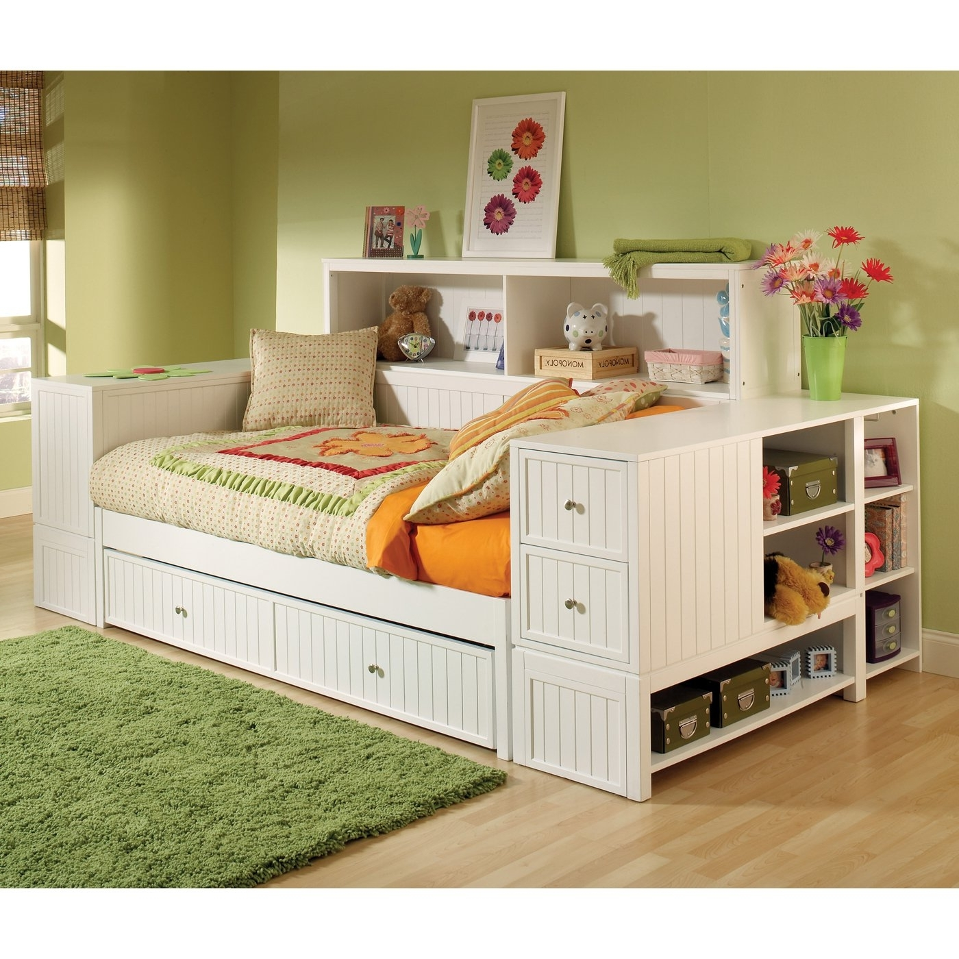 Recent Bookcases Ideas: Bed With Bookcase Storage Kids Platform Bed With For Bookcases Bed (View 14 of 15)
