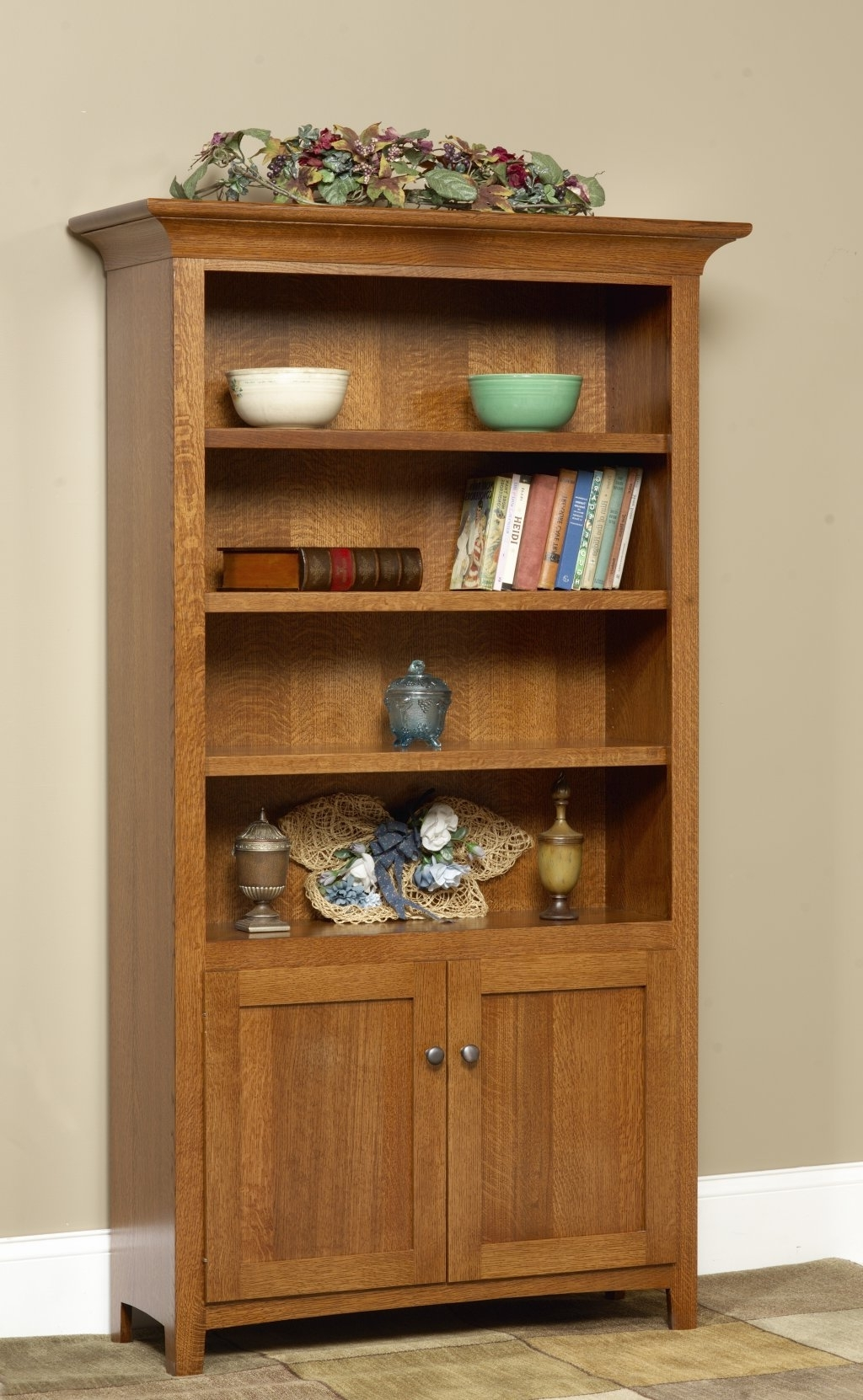 Recent Bookcases With Doors On Bottom With Regard To Dutch Boy Furniture – Bookcases (View 12 of 15)