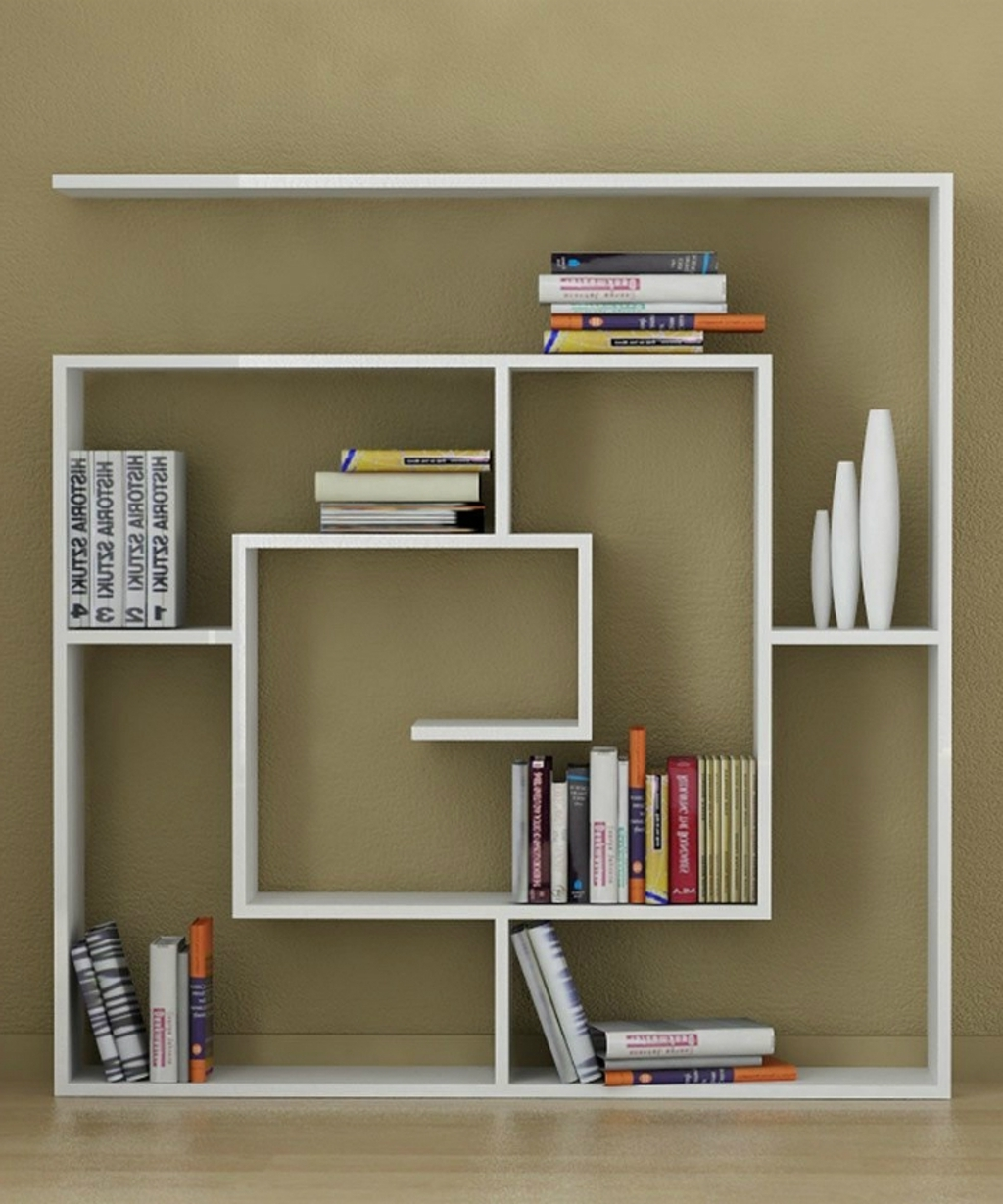 Recent Bookshelves Designs For Home Within Furniture: Decortie Square Book Storage Display – 10 Creative (View 3 of 15)