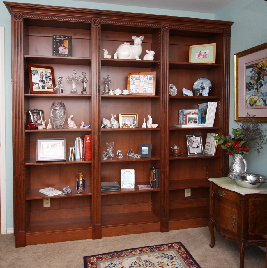 Recent Custom Home Media Center Designs – Classy Closets In Traditional Bookcases (View 4 of 15)