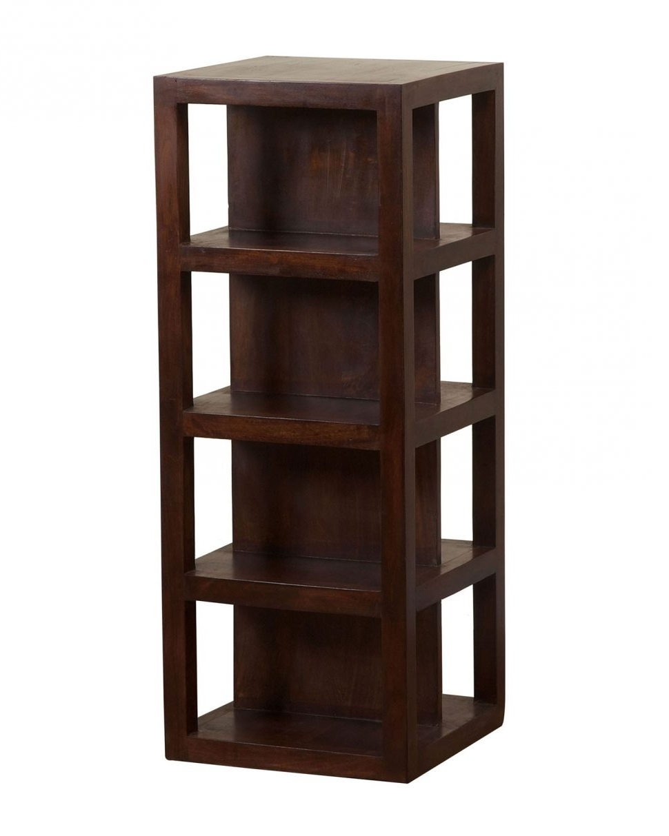 Recent Flat Pack Bookcases For Furniture : Mango Wood Bookcase Modern Bookcase' Tall Narrow (View 14 of 15)