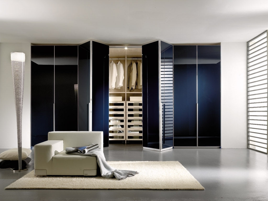 Recent Folding Door Wardrobes Regarding Contemporary Wardrobe / Wooden / Folding Door – Spaziante –  (View 12 of 15)