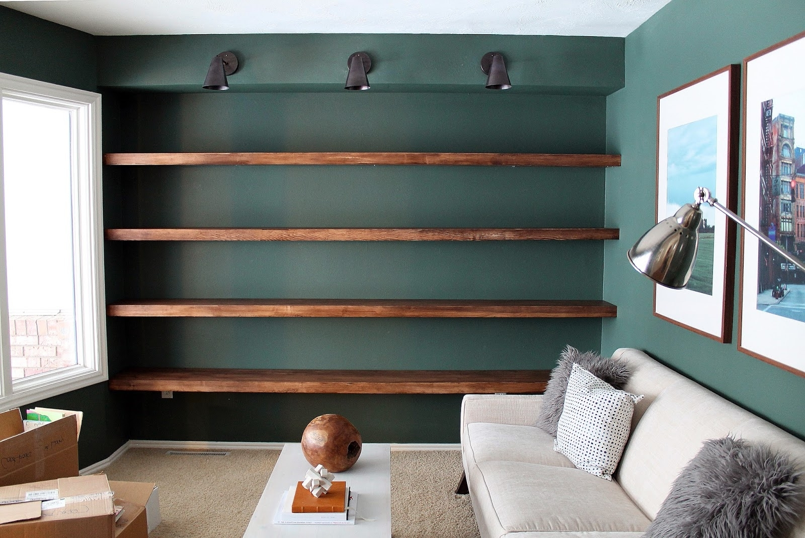 Recent Full Wall Bookcases Regarding Diy Solid Wood Wall Shelves Chris Loves Julia – Dma Homes (View 12 of 15)