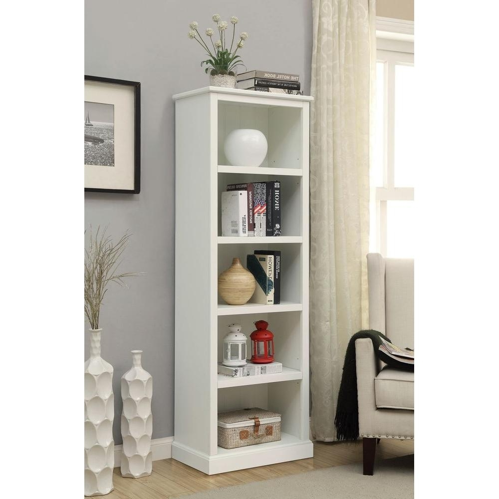 Recent Home Decorators Collection Amelia White Open Bookcase Sk18488c With White 5 Shelf Bookcases (View 4 of 15)
