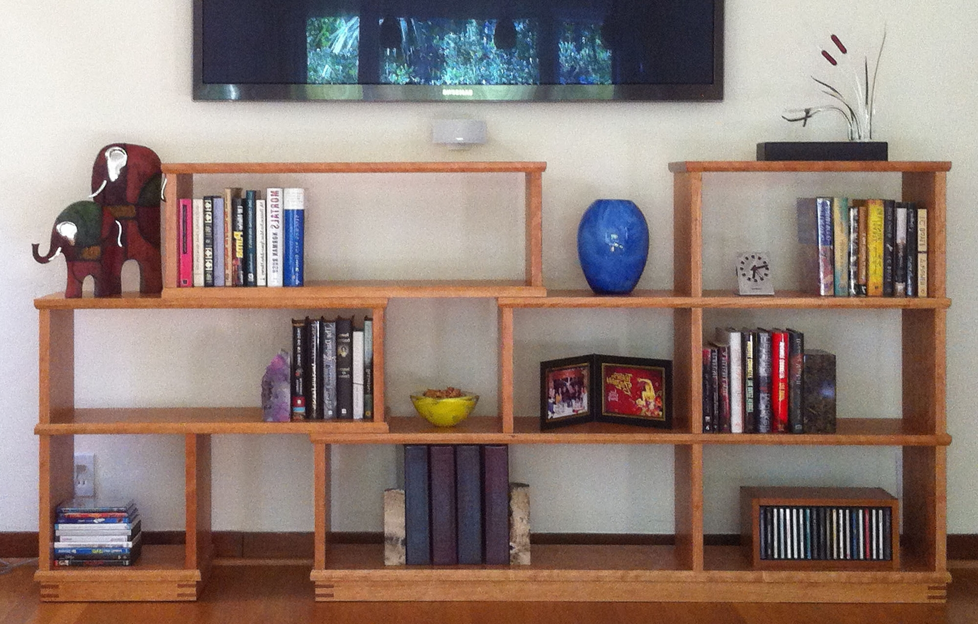Recent Long Low Bookcases With Furniture : Tall Wooden Bookshelf Bookcases Near Me Deep Bookshelf (View 13 of 15)