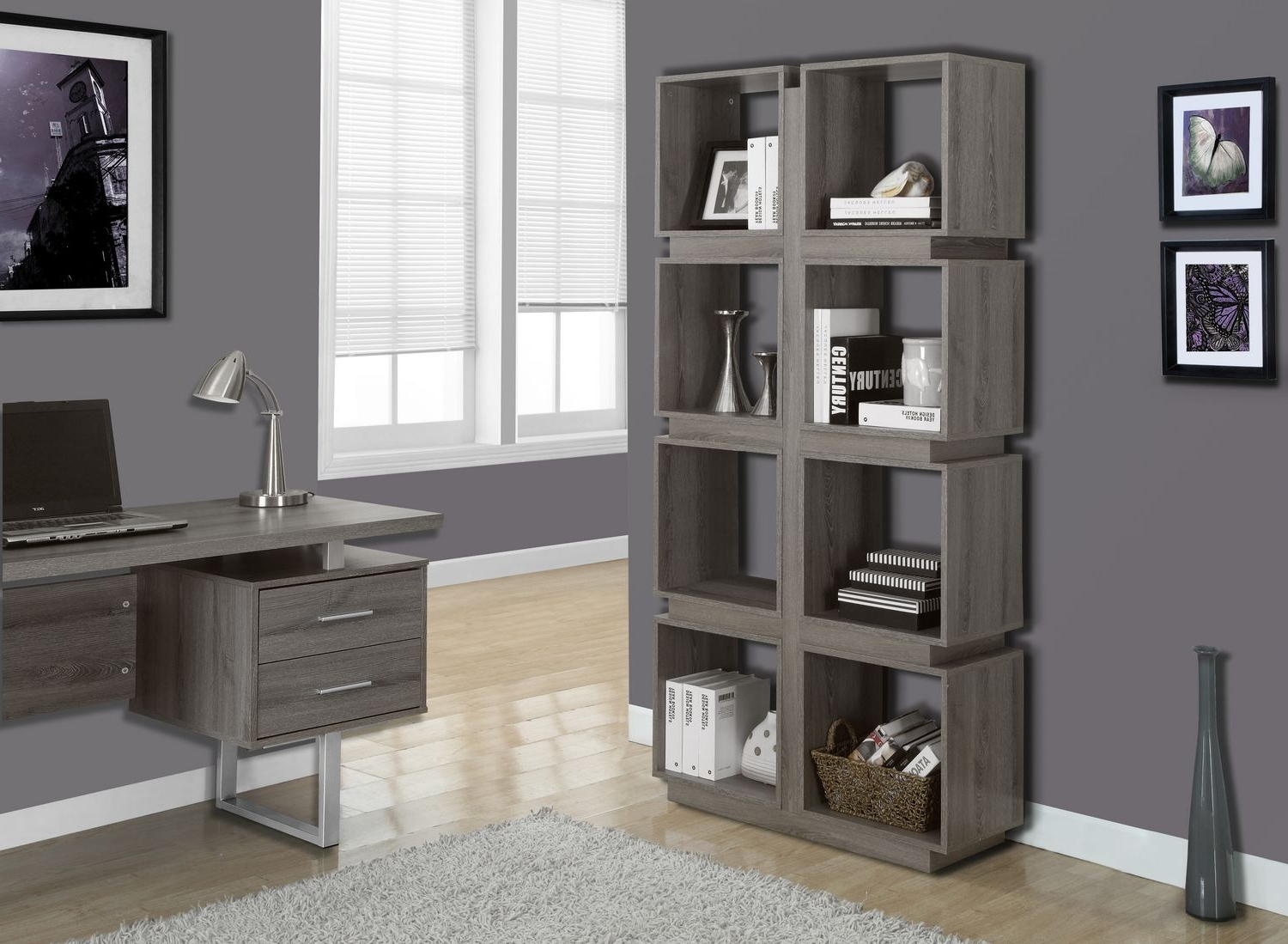 "Recent Monarch Specialties Bookcase – Dark Taupe, 71""h (View 4 of 15)"