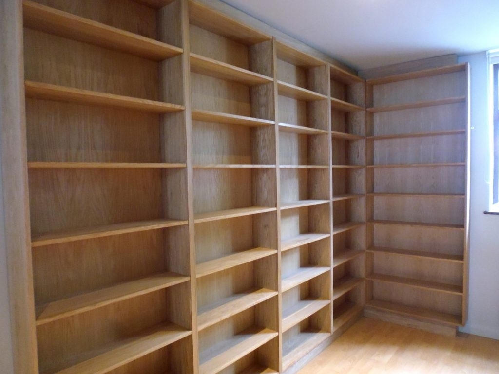 Recent Oak Bookshelves With Regard To Oak Bookshelves – Richard Sothcott Brighton Carpentry (View 12 of 15)