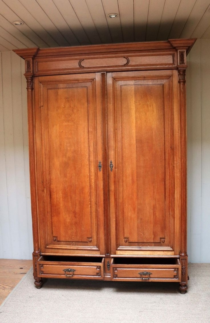 Recent Solid Wood Fitted Wardrobes Regarding White Solid Wood Wardrobes Sale Fitted Armoire Wardrobe For You (View 8 of 15)
