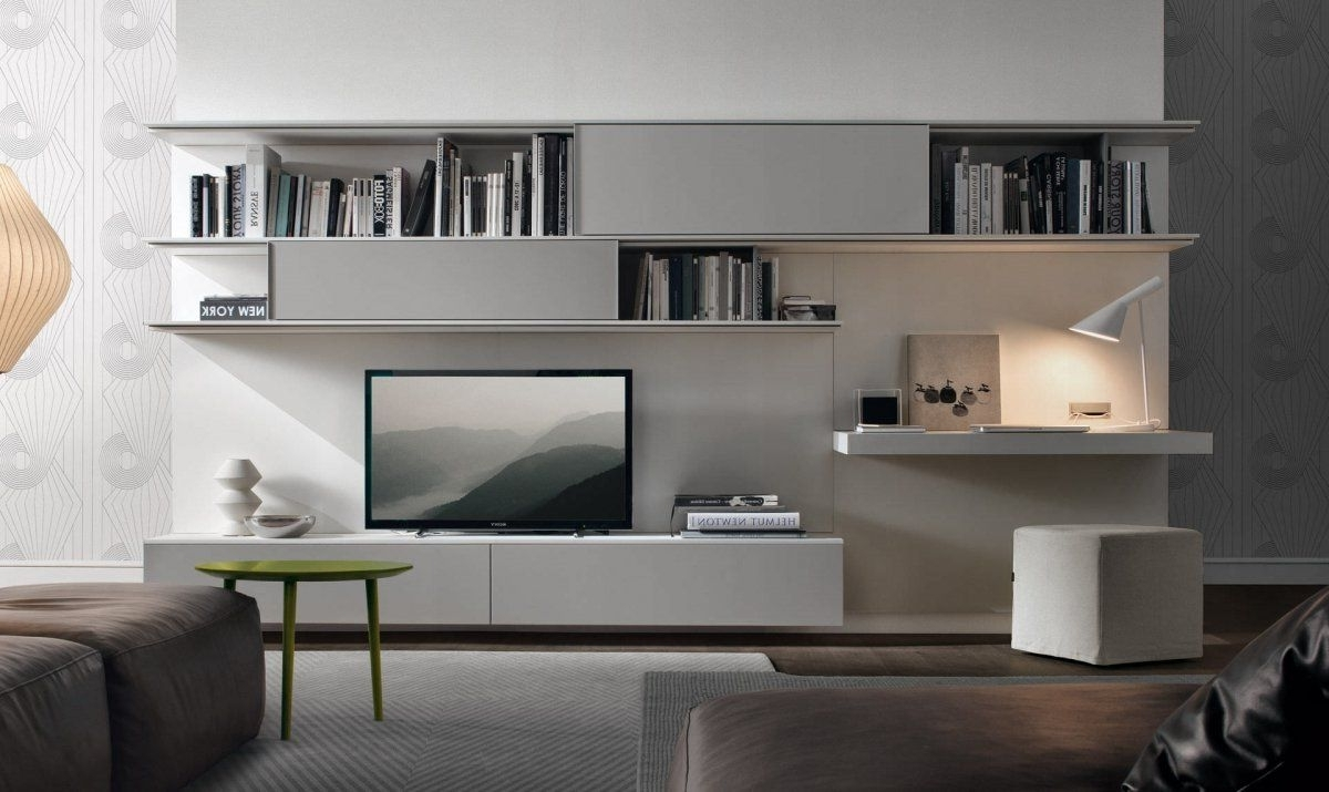 Recent Tv And Bookshelves Regarding Living Room Wall Unit System Designs (View 9 of 15)