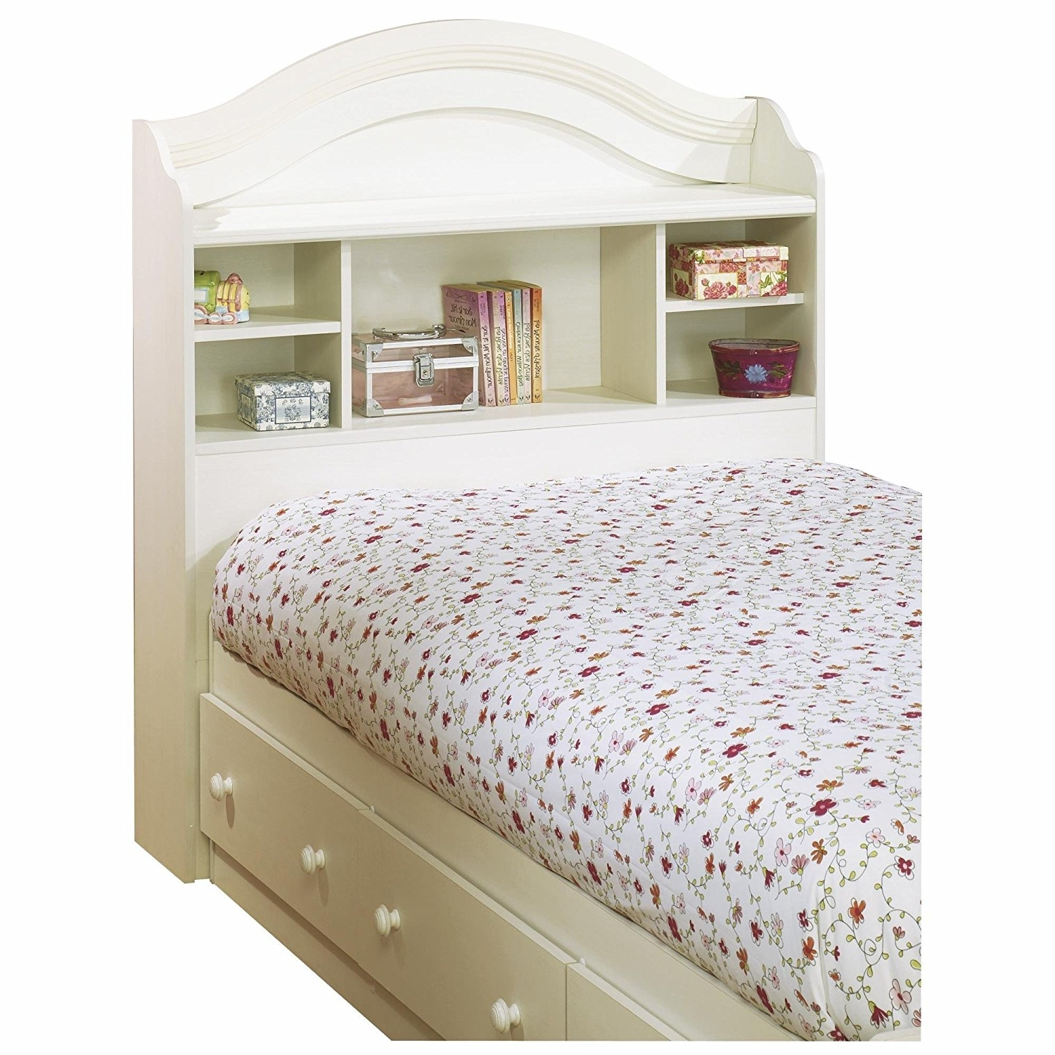 Recent Twin Headboard Bookcases With Amazon: South Shore Summer Breeze Twin Bookcase Headboard And (View 3 of 15)
