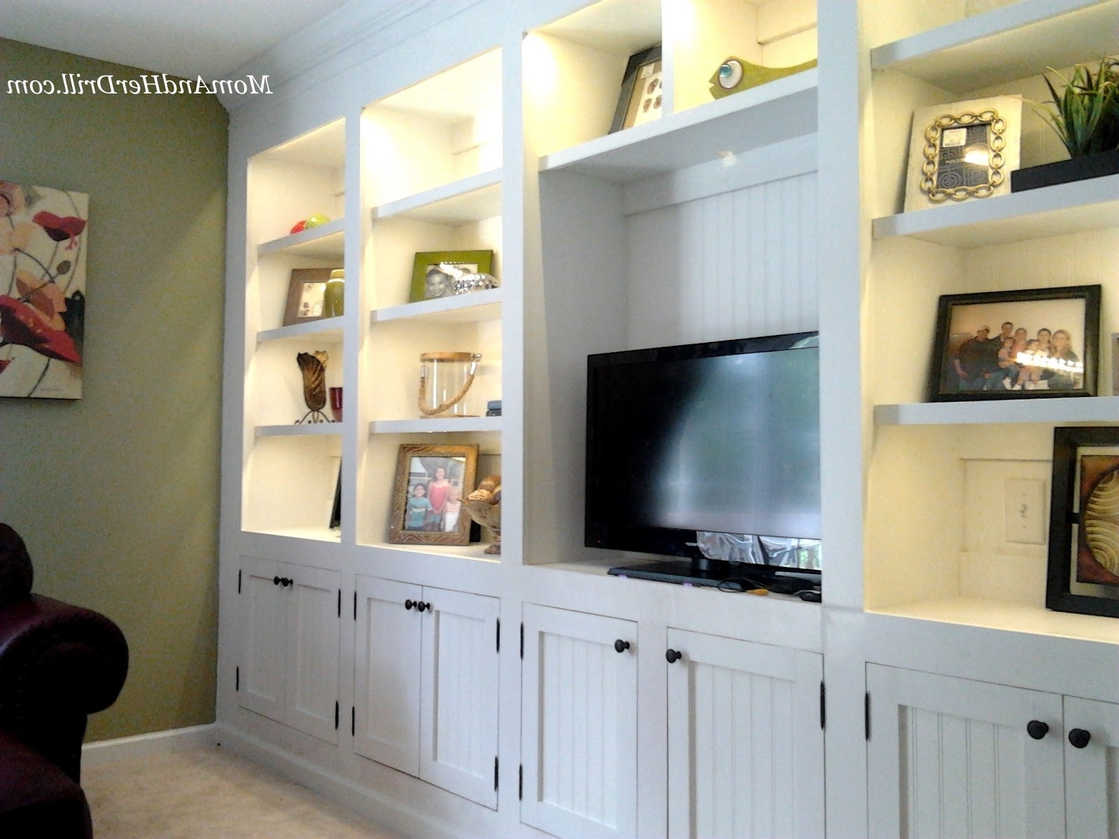 Recent Wall Unit Design For Led Tv Built In Wall Units For Family Room Pertaining To Sitting Room Storage Units (View 13 of 15)