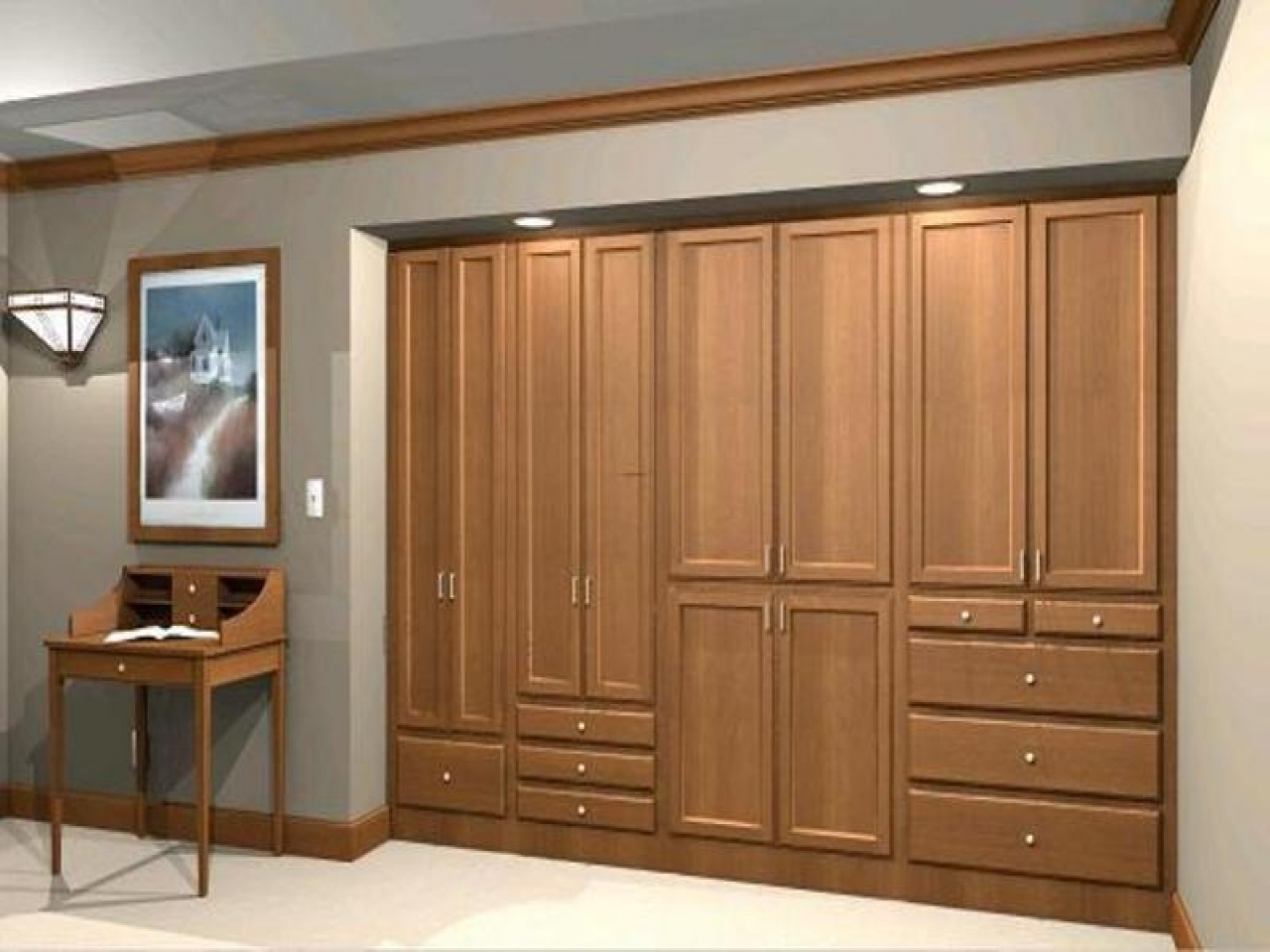 Recent Wardrobe Design : Wardrobe Wall Closet Design To Build Wardrobes For Wall Wardrobes (View 10 of 15)