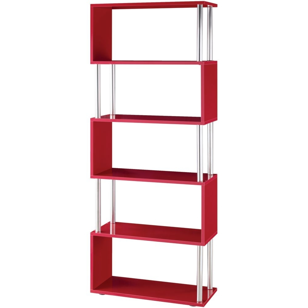 Red Bookcases In Recent Ideas Of Red Bookcase In Ameriwood 5 Shelf Bookcases Set Of 2 Mix (View 12 of 15)