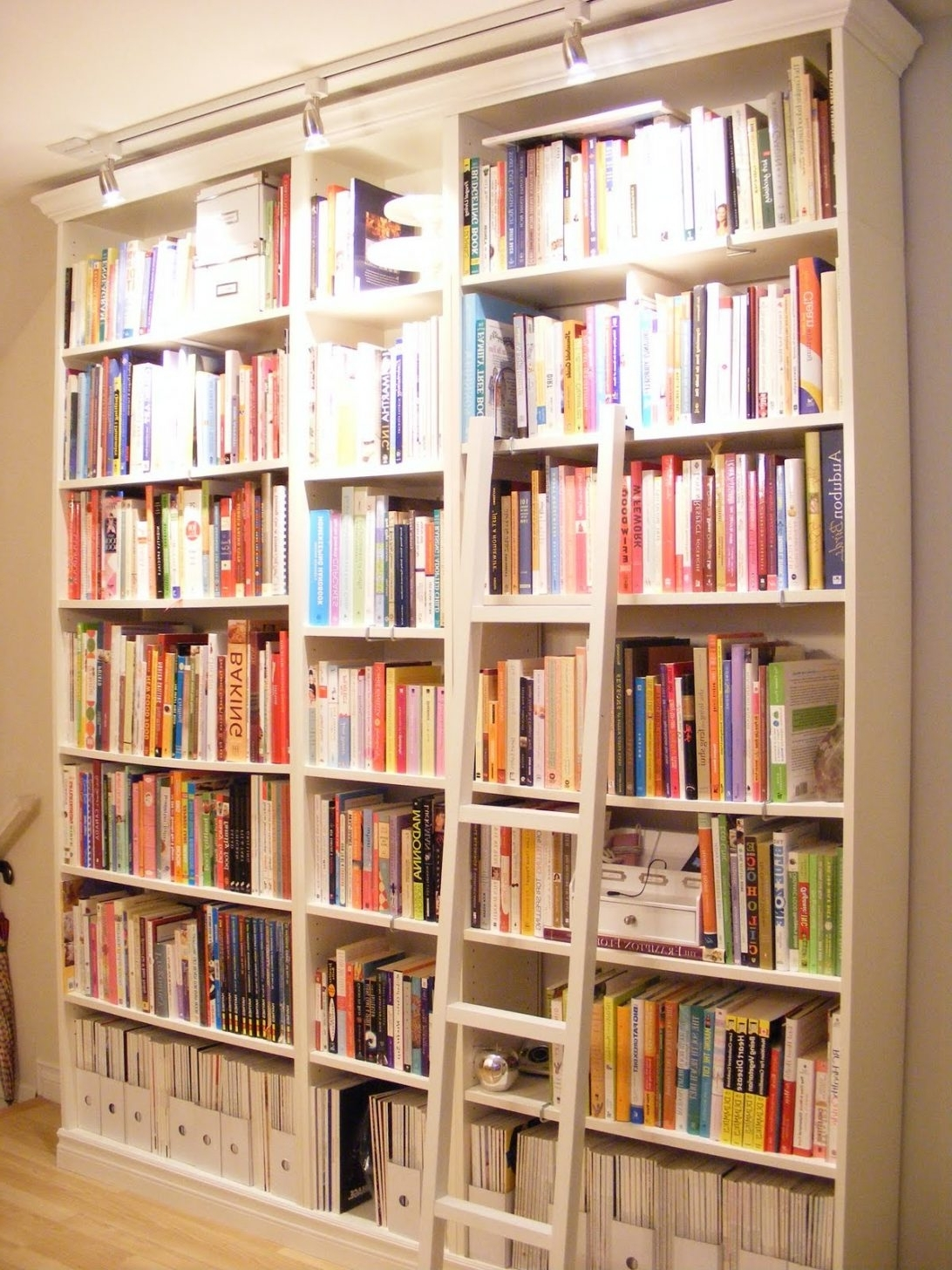 Rolling Bookcases Pertaining To 2018 Tall Bookcase With Ladder Singular Image Inspirations Bookcases (View 9 of 15)