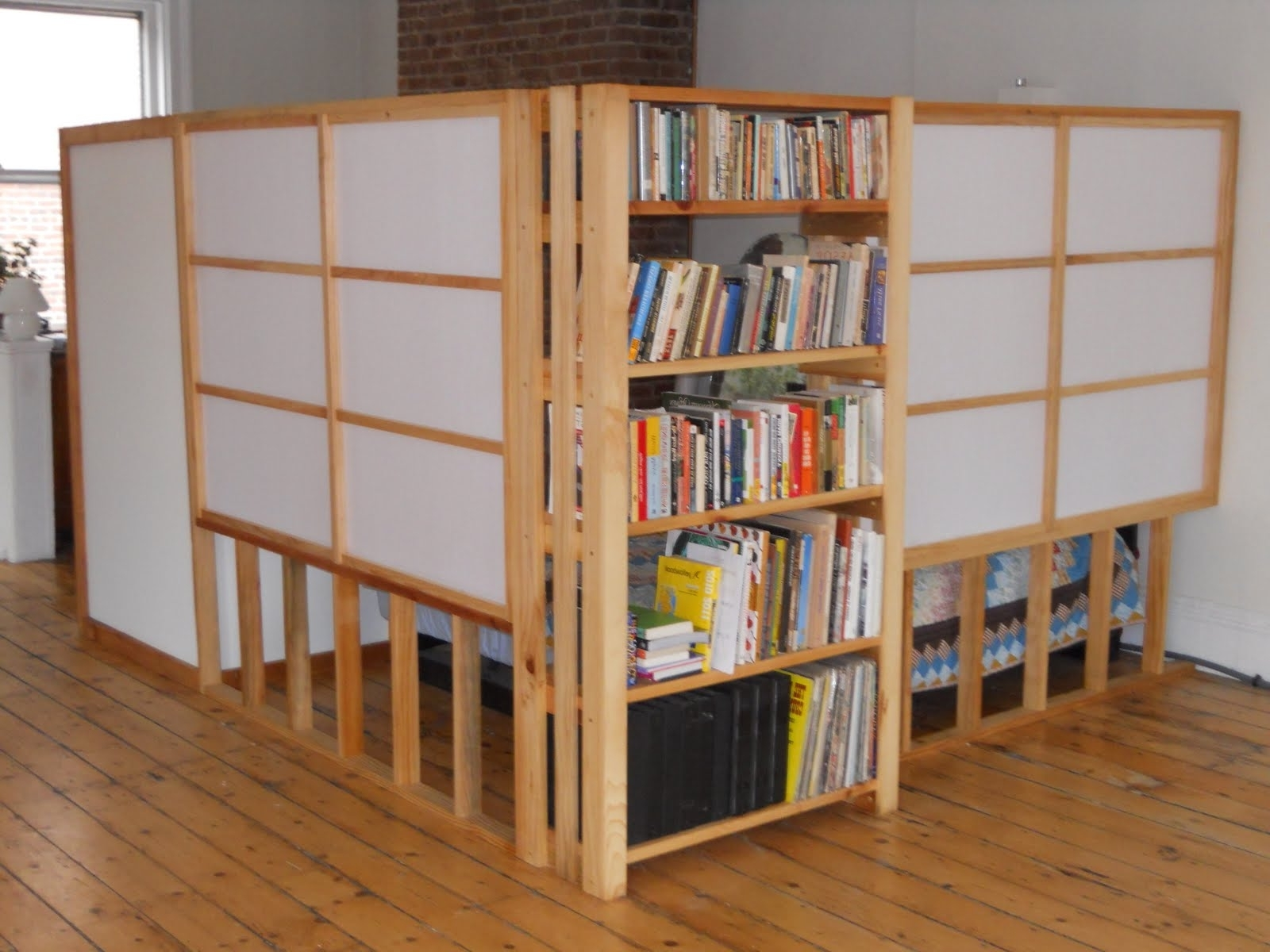 Room Divider Bookcase White : Doherty House – Room Divider With Latest Bookcases Room Dividers (View 6 of 15)