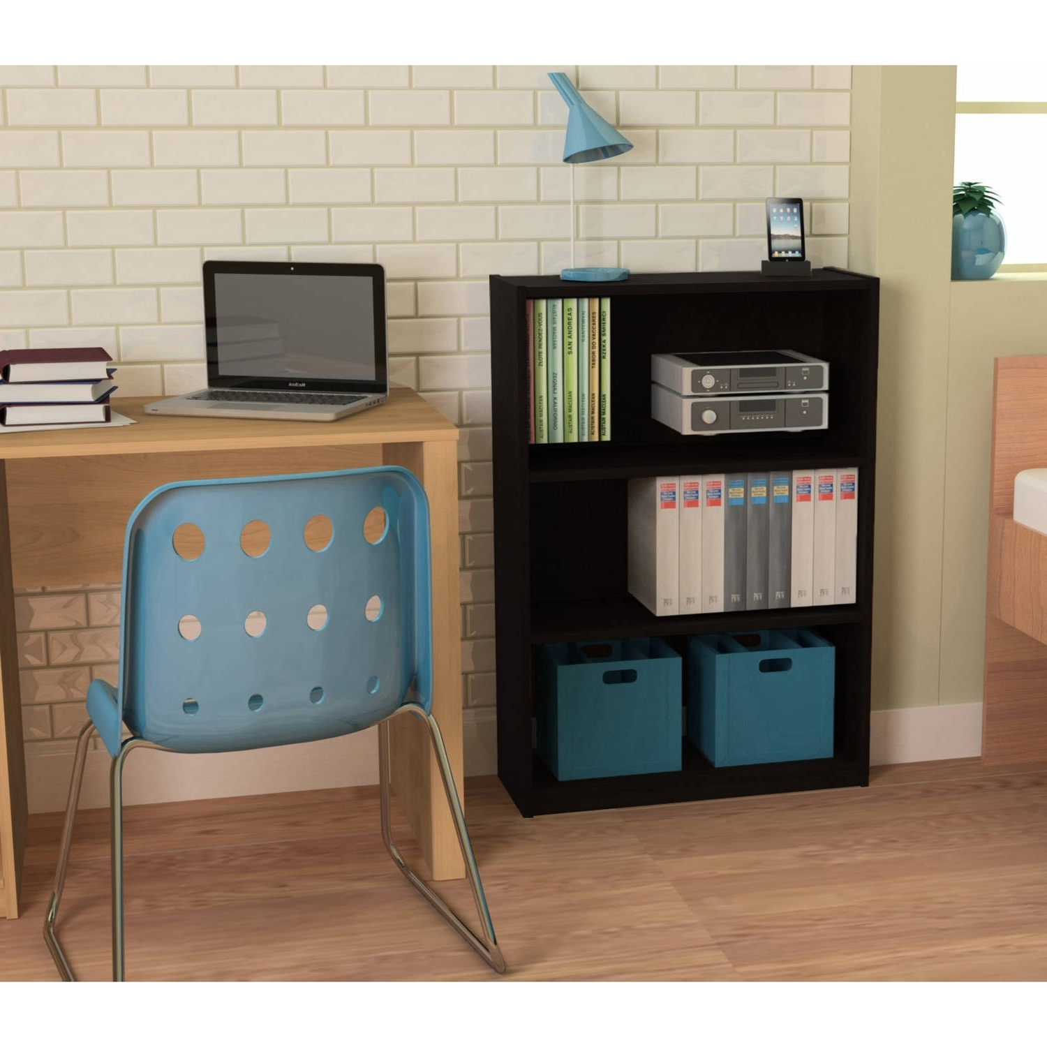 Room Essentials 3 Shelf Bookcases Inside Current Ameriwood 3 Shelf Bookcase, Multiple Finishes – Walmart (View 4 of 15)