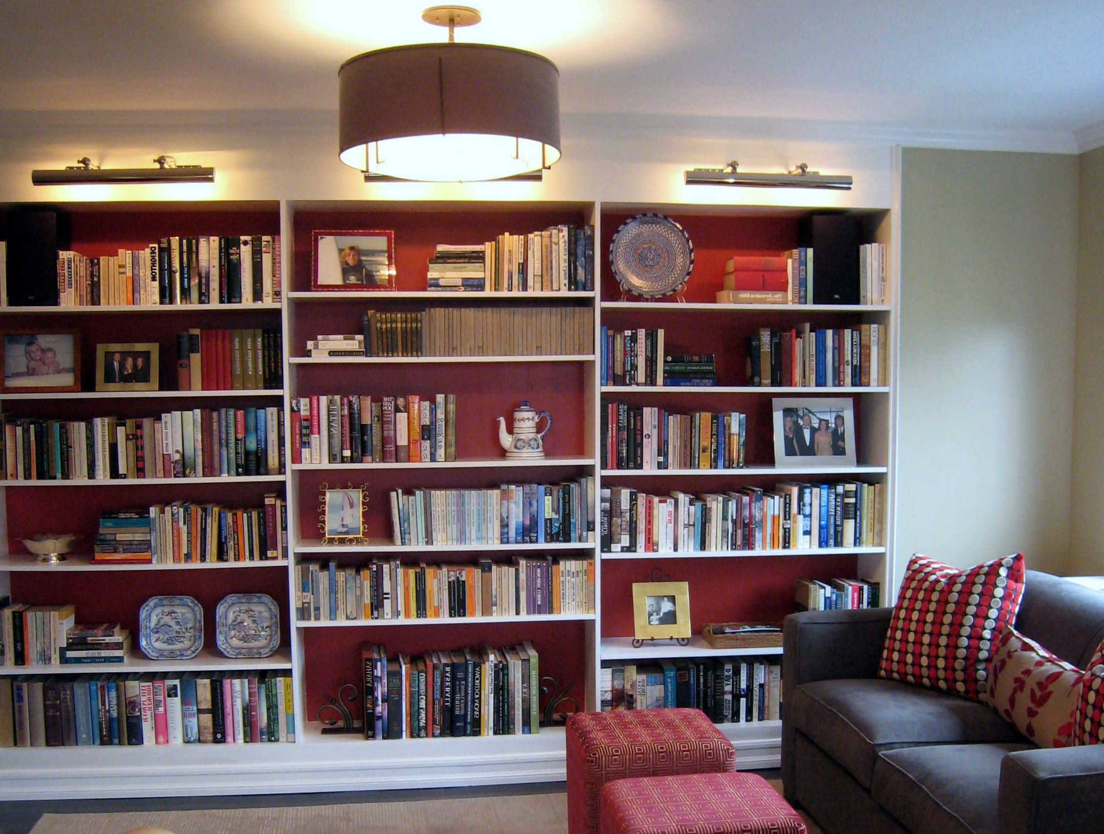 Room Library Library Decoration Ideasainterior Decorations Intended For Well Liked Bookcases Lighting (View 11 of 15)