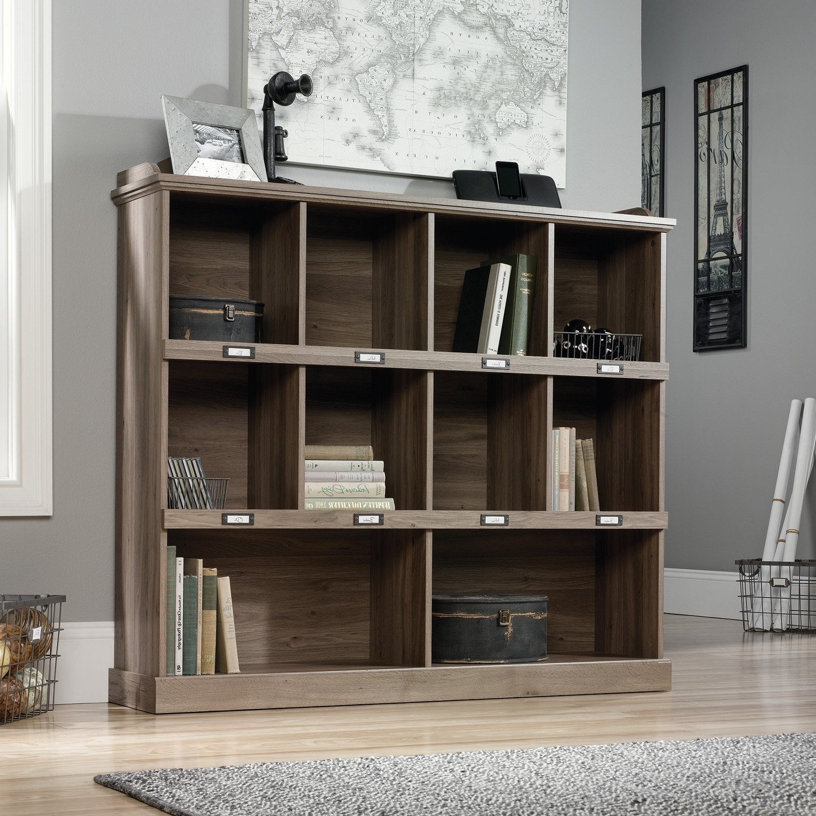 Sauder Barrister Lane Bookcase – Scribed Oak (View 11 of 15)