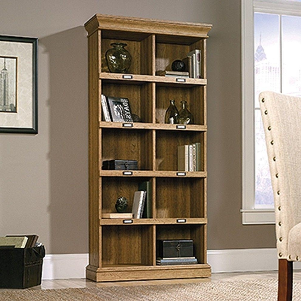 Sauder Barrister Lane Salt Oak Open Bookcase 414108 – The Home Depot For Well Known Barrister Lane Bookcases (View 12 of 15)