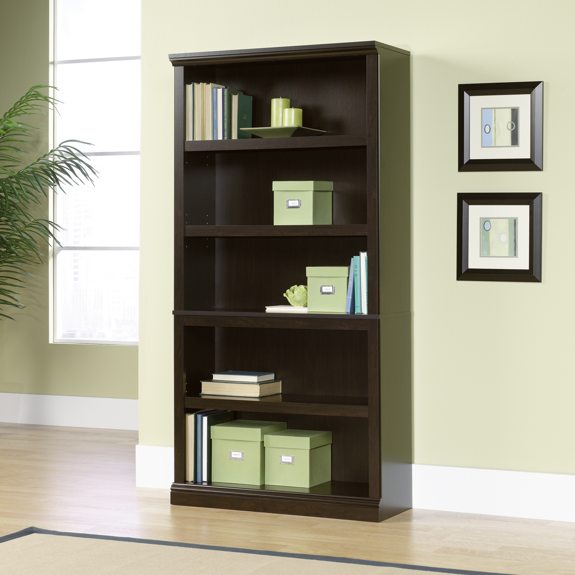 Sauder Pertaining To Popular Carson 5 Shelf Bookcases (View 12 of 15)