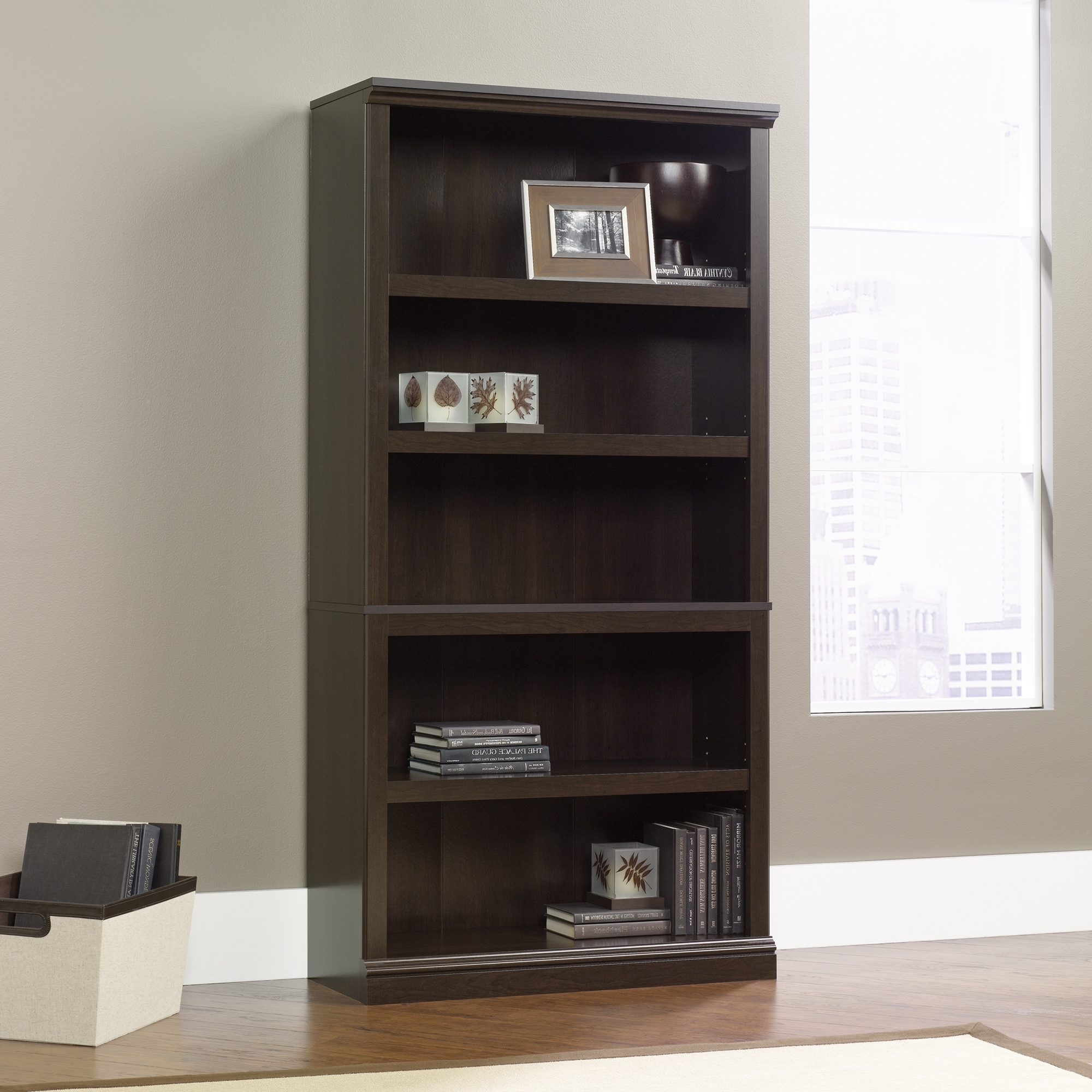 Sauder With Sauder 5 Shelf Bookcases (View 14 of 15)