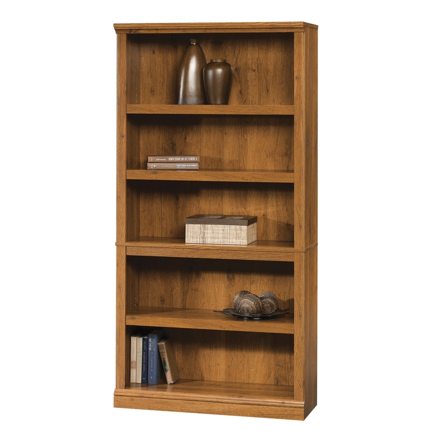 Saunders Bookcases With 2018 Shop Sauder Abbey Oak 5 Shelf Bookcase At Lowes (View 13 of 15)