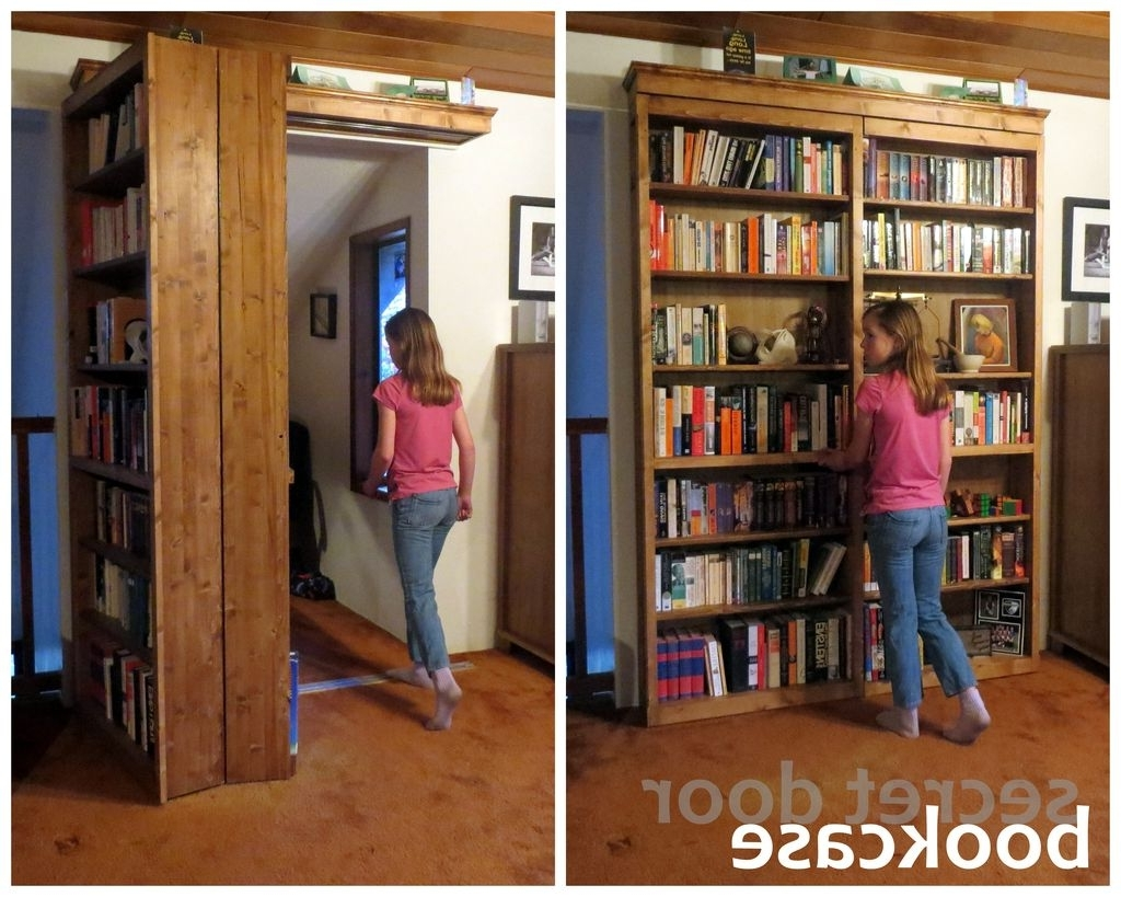 Secret Door Bookcase: 18 Steps (With Pictures) Throughout Most Current Bifold Bookcases (View 12 of 15)
