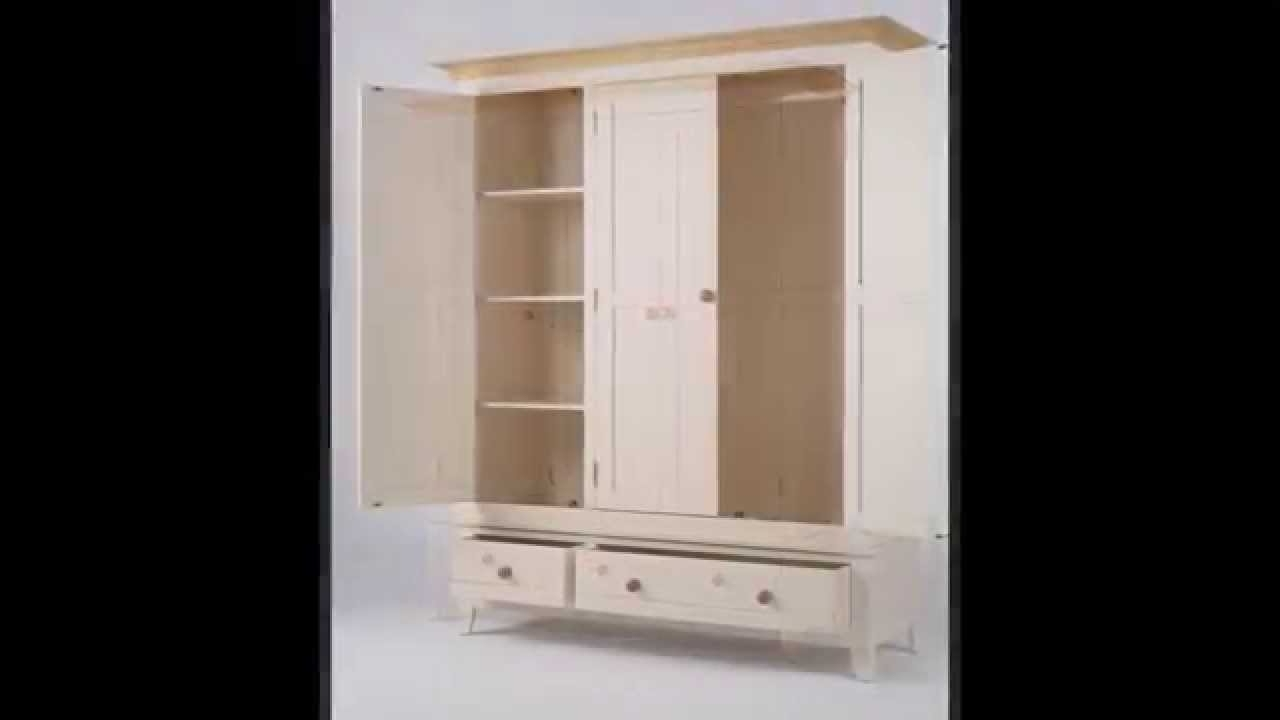 Shabby Chic Bedroom Furniture Pertaining To Popular 3 Door Wardrobes With Drawers And Shelves (View 13 of 15)