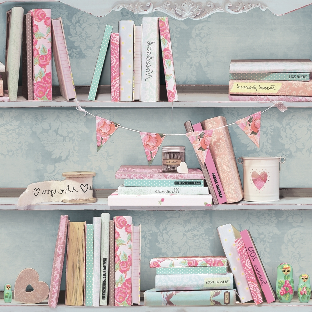Shabby Chic Bookcases Intended For Well Liked Shabby Chic Bookcase Pink (View 14 of 15)