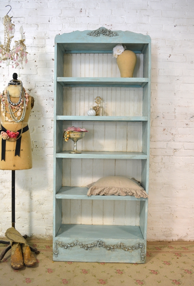 Shabby Chic Bookcases Pertaining To Most Up To Date Bc (View 3 of 15)