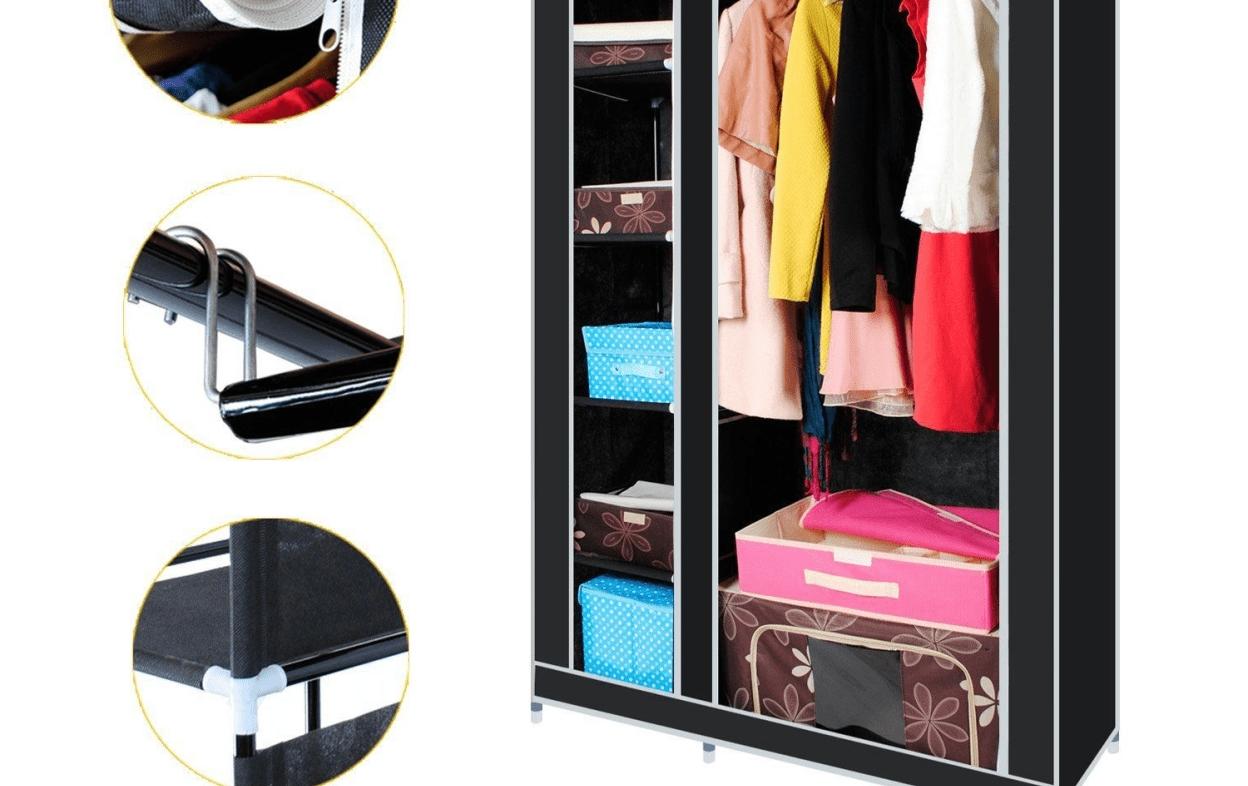 Shelf : Wood Double Shelf Clothes Rail Amazing Double Up Wardrobe Within Popular Double Up Wardrobes Rails (View 8 of 15)