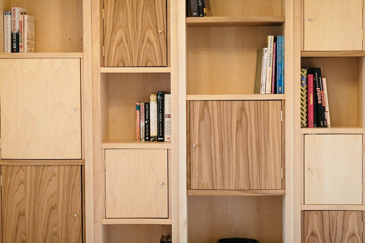 Shelves And Cupboards In Popular Maple And Oak Bespoke Shelving (View 3 of 15)