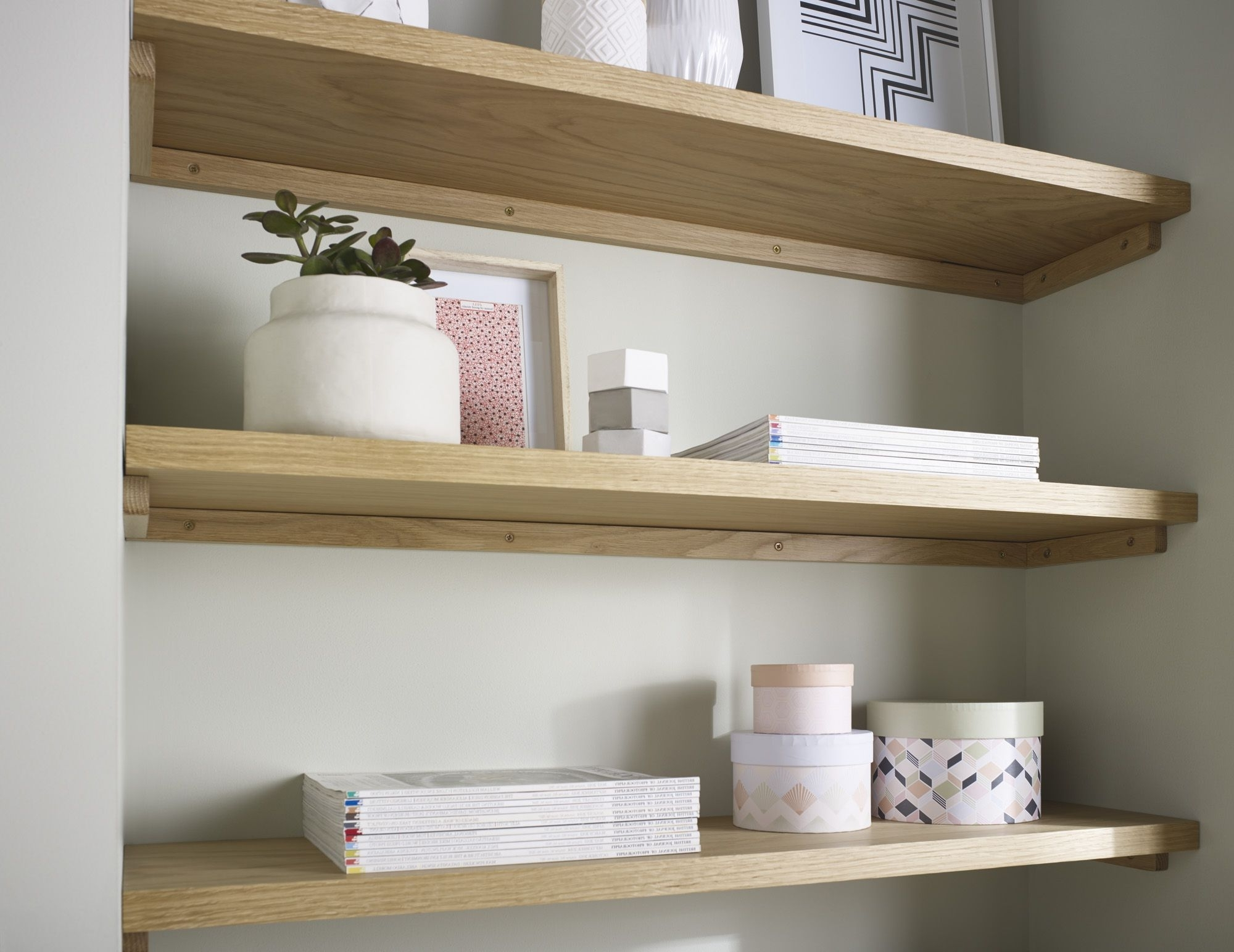 Shelves : Delightful Oak Floating Shelf Solid American White With Regard To Favorite Oak Shelves (View 12 of 15)