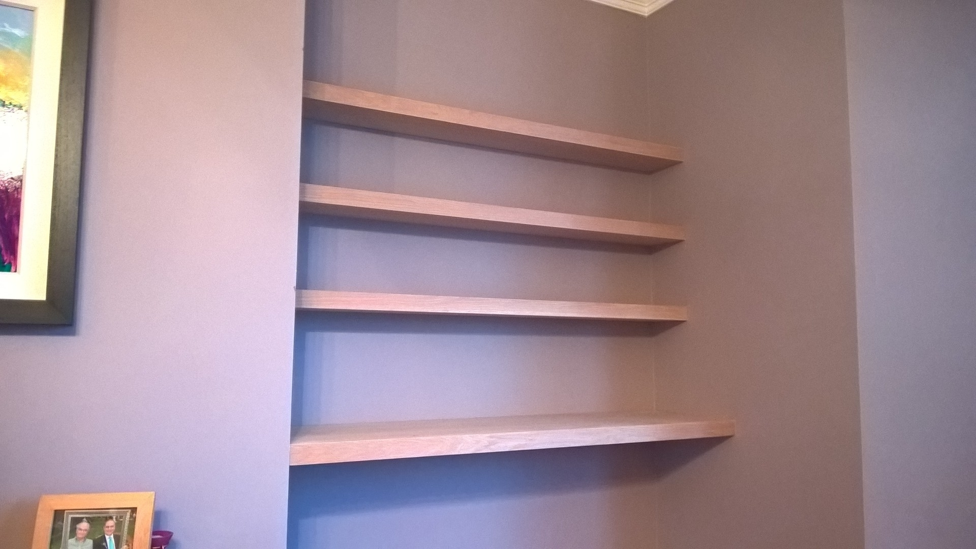 Shelves : Swell Oak Shelves Floating Gallery Fitted Solid Hardwood For Most Popular Fitted Shelving Units (View 15 of 15)