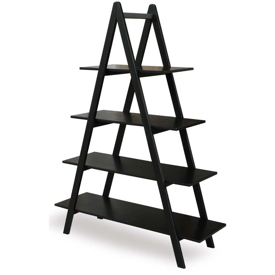 Shop Allen + Roth 60 In H X 45 In W X 15 In D 4 Tier Wood Pertaining To Preferred Free Standing Shelving Units Wood (View 13 of 15)