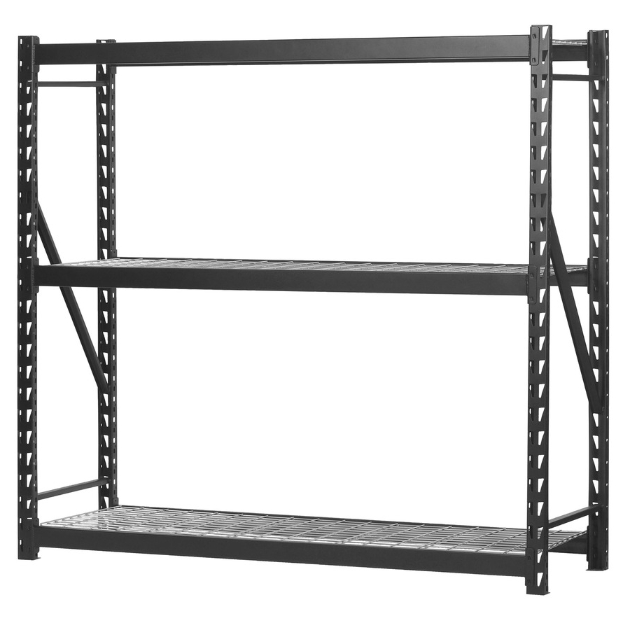 Shop Freestanding Shelving Units At Lowes Intended For Most Current Free Standing White Shelves (View 12 of 15)