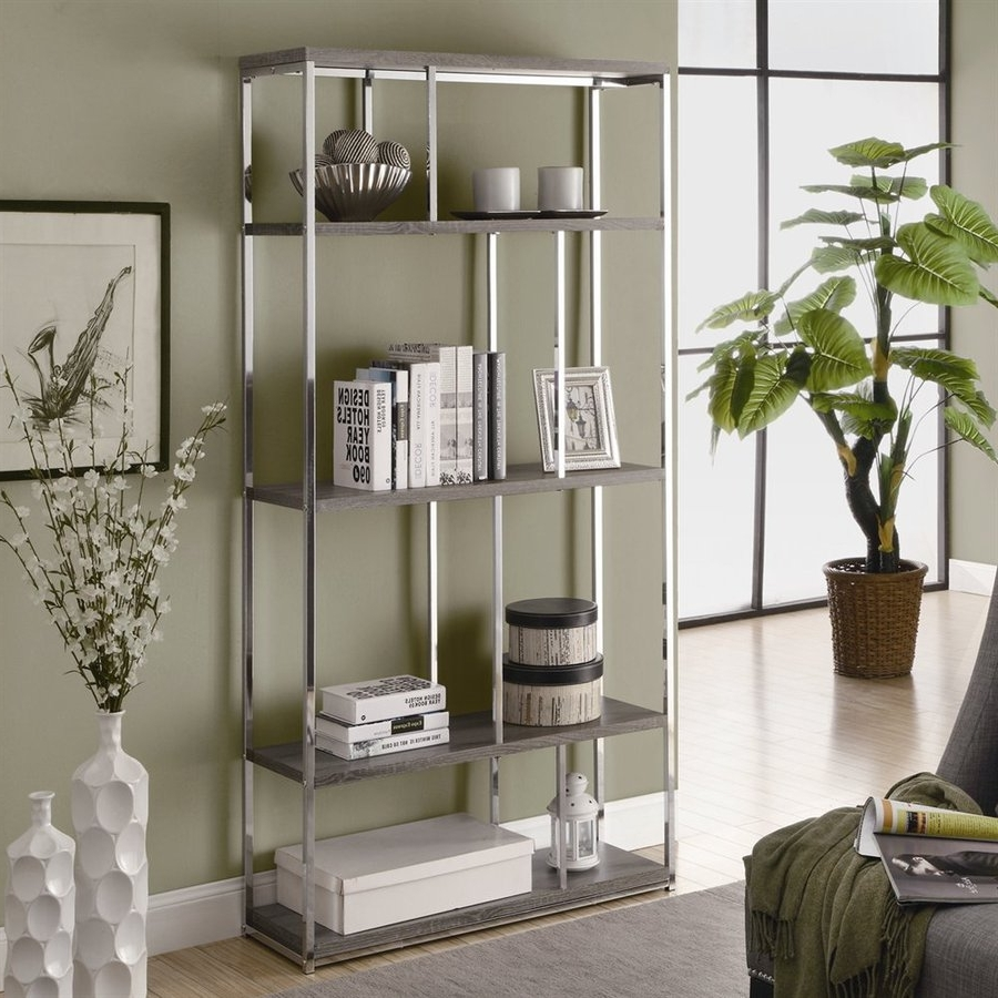 Shop Monarch Specialties Dark Taupe Wood 4 Shelf Bookcase At Lowes Regarding Preferred Monarch Bookcases (View 5 of 15)