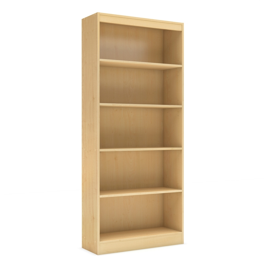 Shop South Shore Furniture Axess Natural Maple 5 Shelf Bookcase At Throughout Favorite South Shore 5 Shelf Bookcases (View 7 of 15)