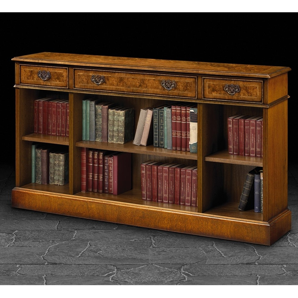 Short Bookcases Pertaining To Most Current Furniture : Horizontal Bookcase With Doors White Bookcase With (View 10 of 15)