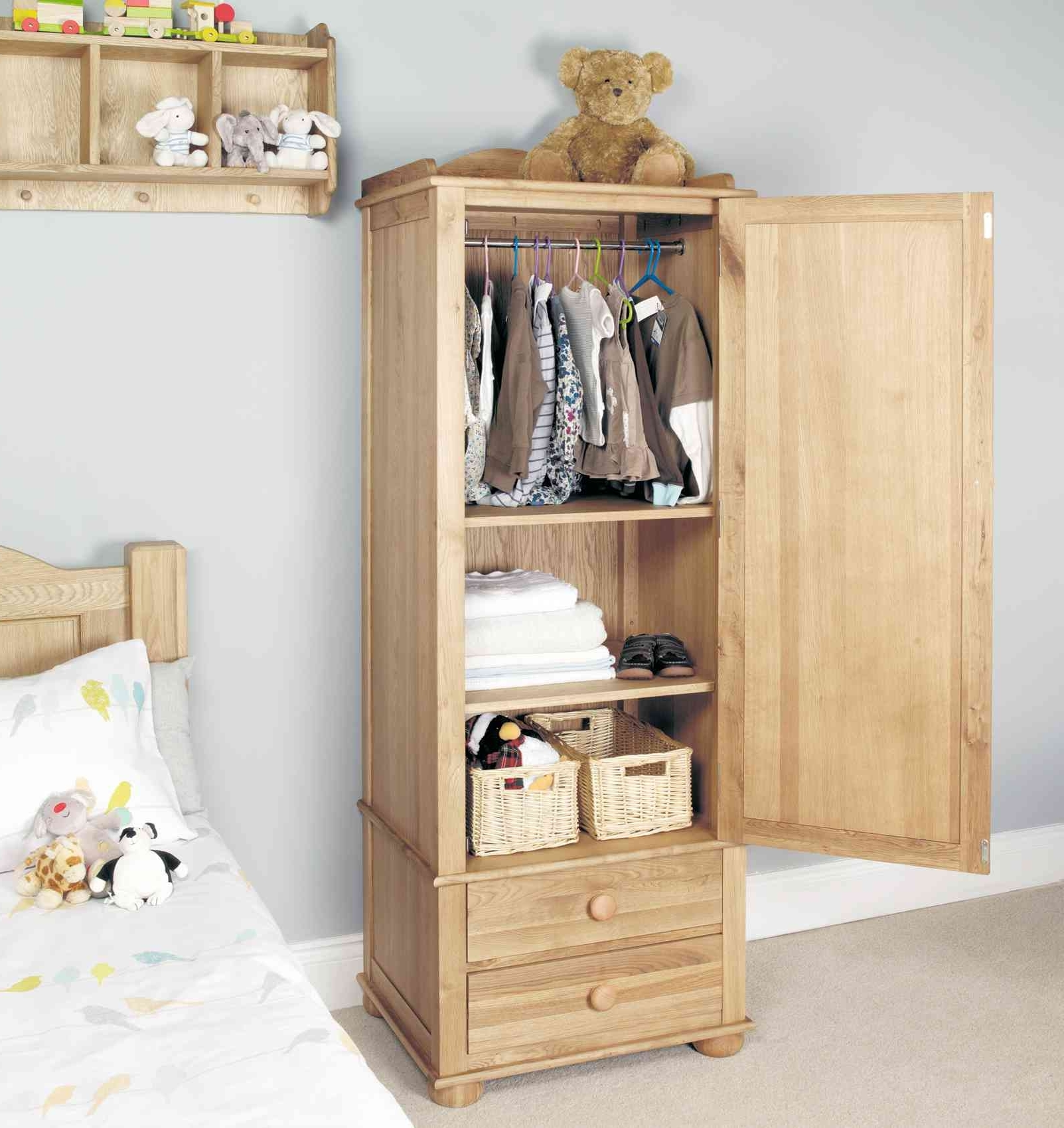 Single Wardrobes With Drawers And Shelves Within Most Current If You Have A Tiny Wardrobe Start Hanging Your Clothes Vertically (View 13 of 15)